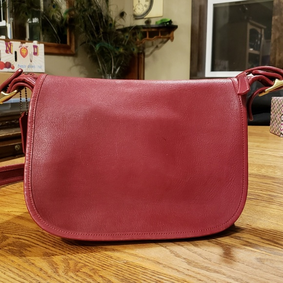 Coach Handbags - Coach,Vintage, Beautiful Red leather bag